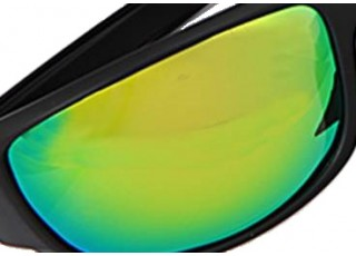 Shiny Black Frame / Green Mirror Lens (+30.00)