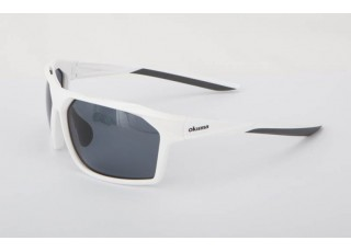 Shiny White Frame / Dark Grey Lens (+70.00)